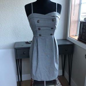 Forever 21 Gray Sailor Style Dress